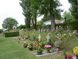 Arcangues - Cemetery at Arcangues with its characteristic basque headstones