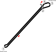 Illustration du tracé du circuit de l'Avus.