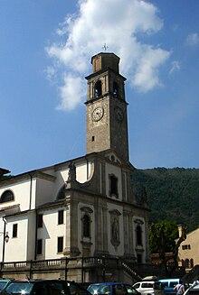 La chiesa e il campanile di Cison