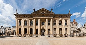 Nicholas Hawksmoor - Clarendon Building (1712–13), Oxford, south front.