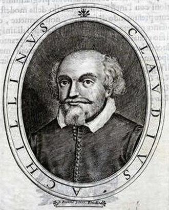 Claudio Achillini - Engraving by L Pecini Vene, in Le glorie dei ignoti