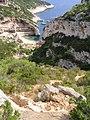 Climbing down to Stiniva beach, island of Vis, Croatia (1).jpg