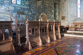 Clonfert Cathedral Choir Stalls North 2009 09 17.jpg