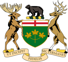 Description de l'image  Coat of Arms of Ontario.png.
