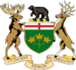 Wikipedia: Ontario at Wikipedia: 85px-Coat_of_Arms_of_Ontario