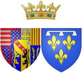 Coat of arms of Élisabeth Charlotte d'Orléans as Duchess of Lorraine.png