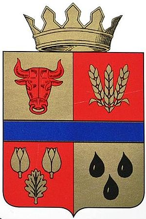 Staropoltavsky District - Image: Coat of arms of Staropoltavsky district 01