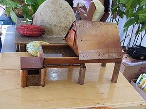 Cocoa panyols - Cocoa Drying House (model), Trinidad