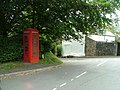 Coed-y-Paen telephone box and road junction - geograph.org.uk - 543375.jpg
