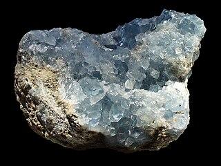 Celestine (mineral) sulfate mineral