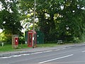 Colehill, postbox No. BH21 32 and phone, Wimborne Road - geograph.org.uk - 1369292.jpg