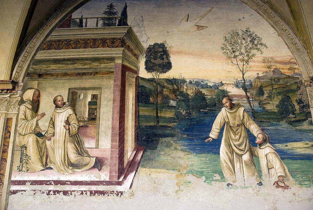Il Sodoma, Come Mauro mandato a salvare Placido cammina sopra l'acqua