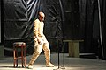 Comedian Tommy Davidson performs during a comedy show for U.S. and coalition forces service members and civilians at Kandahar Airfield, Kandahar province, Afghanistan, Jan. 1, 2014 140101-Z-MH103-145.jpg