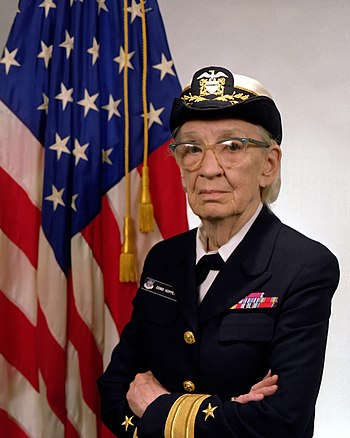 English: Commodore Grace M. Hopper, USN (covered).