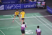 Description de l'image Commonwealth Games 2014 Badminton Double Final MAS-SGP.jpg.
