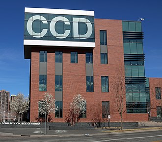 Community College of Denver - CCD's Confluence Building on the Auraria Campus.