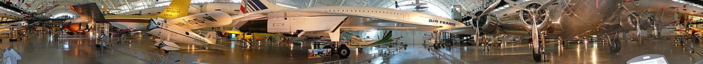 Panorama looking at the Concorde aircraft