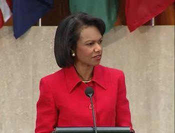 US Secretary of State, Ms. Condoleezz...
