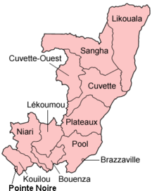 Republic of the Congo-Administrative divisions-Congo departments named