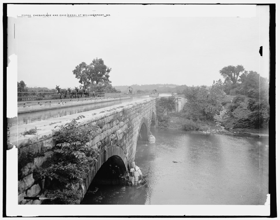 Conococheague Aqueduct at Williamsport from LOC