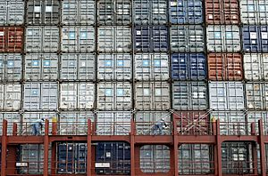 Stowage plan for container ships - Container stack on Edith Maersk