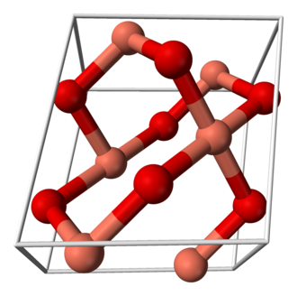 Copper(II) oxide - Image: Copper(II) oxide unit cell 3D balls