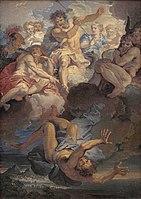 Corneille Jean-Baptiste 1685c Jupiter chassant Vulcain de l'Olympe.jpg