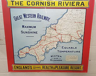 Economy of Cornwall - An advertisement produced by the Great Western Railway