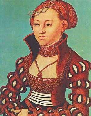 Elisabeth of Hesse, Hereditary Princess of Saxony - Image: Cranach Elisabeth von Sachsen
