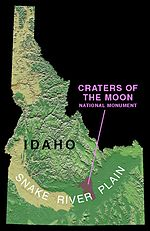 Craters of the Moon within Idaho