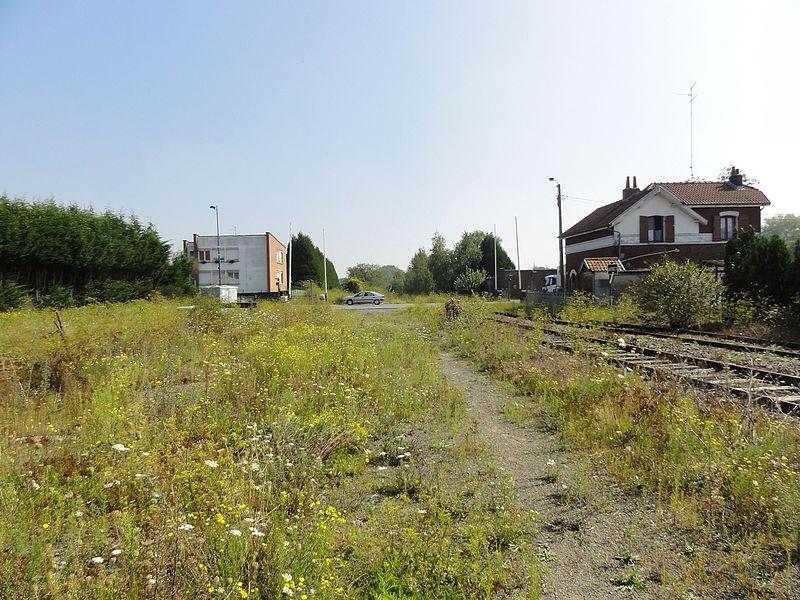 Gare de Blanc-Misseron, Crespin et Quiévrechain, Nord-Pas-de-Calais, France.