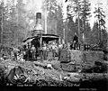 Crew with donkey engine, Copalis Lumber Company, near Carlisle, ca 1917 (KINSEY 2068).jpeg