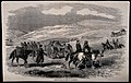 Crimean War; carrying the wounded to Balaklava, Russia. Wood Wellcome V0015366.jpg