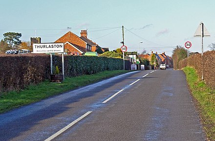 The Village of Thurlaston, Leicestershire Croft Road enters Thurlaston - geograph.org.uk - 681309.jpg
