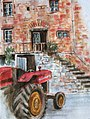 Croquis aquarellé- tracteur à Villecomtal - France (7551228462).jpg