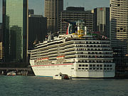 Cruise ship in Sydney Cove Australia