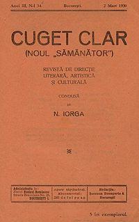 Cuget Clar - Coperta - 2 martie 1939.jpg