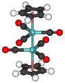 Cyclopentadienylmolybdenum tricarbonyl dimer 3D.png