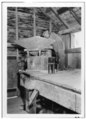 DETAIL OF HOPPER, SHOE AND MILL-STONE HOOP - Forge Creek Dam-John Cable Mill, Townsend, Blount County, TN HABS TENN,5-CADCO,1-8.tif