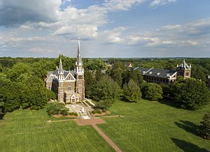 Belmont Abbey College - Aerial View of Belmont Abbey College