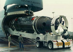 Deep-submergence rescue vehicle - DSRV 2 Avalon being loaded onto a Lockheed C-5 Galaxy for transport