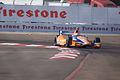 Dallara-Honda DW12 Ganassi-Novalog Racing Charlie Kimball Morning Practice Through Turn1 SPGP 24March2012 (14513047438).jpg