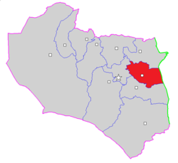 Map of Darmian County in South Khorasan province