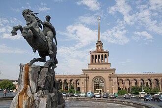 David of Sassoun - A 1959 statue to David of Sassoun Yerevan, by Yervand Kochar