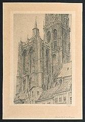 De toren van de kathedraal van Antwerpen