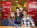 Debby Ryan and Jean-Luc Bilodeau at 16 Wishes event at Borders, 2010.jpg