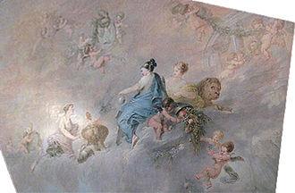 Schloss Meseberg - Ceiling fresco by Bernhard Rode