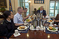 Defense Secretary Chuck Hagel hosts a lunch with junior enlisted military personnel at the Pentagon 150121-D-DT527-034c.jpg