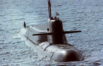 Nuclear propulsion - Nuclear-powered submarine.