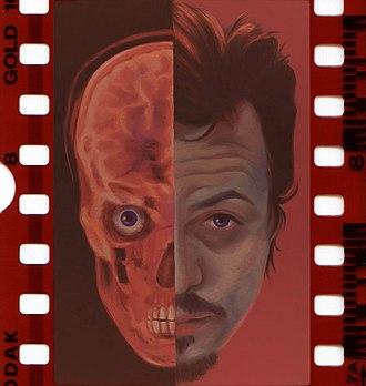 Fabrice de Nola - Fabrice de Nola, Self-portrait in negative, 1999 (oil on canvas, reproduction on negative film).